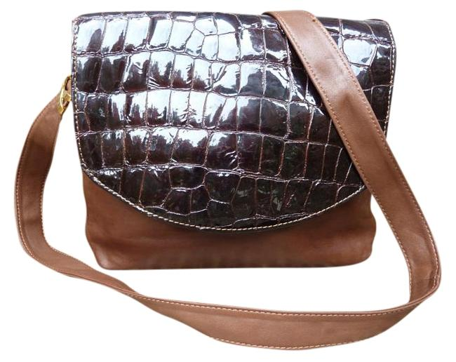 Item - Milk Chocolate Lambskin and Patent Leather Shoulder Bag
