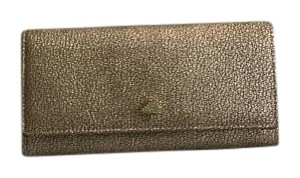 Mulberry Tree Continental Wallet in Metallic Goat