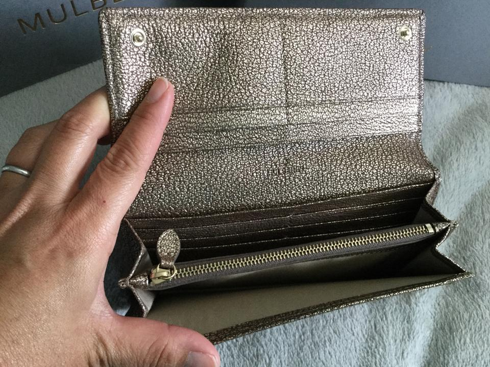 2e326902fe Mulberry Tree Continental Wallet in Metallic Goat Image 9. 12345678910