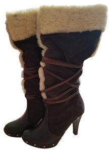 Michael Kors Shearling Boot Dark Brown Boots