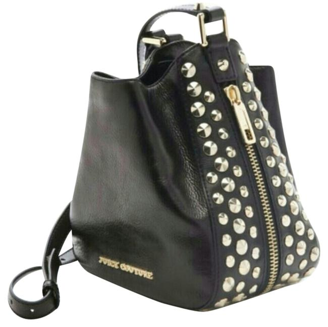 """Item - Girl New Black """"Tough Stevie"""" Satchel with Gold Spike Accents Multicolor Leather Hobo Bag"""