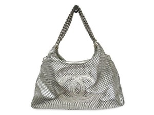 Chanel Tote in Silver Lame