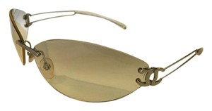 Chanel Vintage Clear & Silver Chanel Sunglasses