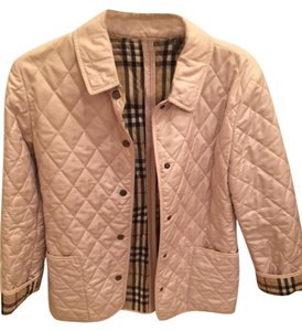 Burberry Quilted Peacoat Polyester Pink Jacket