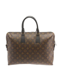Louis Vuitton Coated Canvas Carry-on Black & Brown Travel Bag