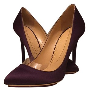 Charlotte Olympia Plum/clear Pumps