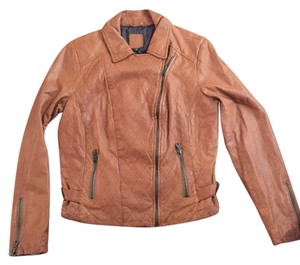Gap Chestnut Leather Jacket
