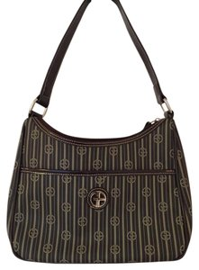Giani Bernini Leather Silver Hardware Shoulder Bag