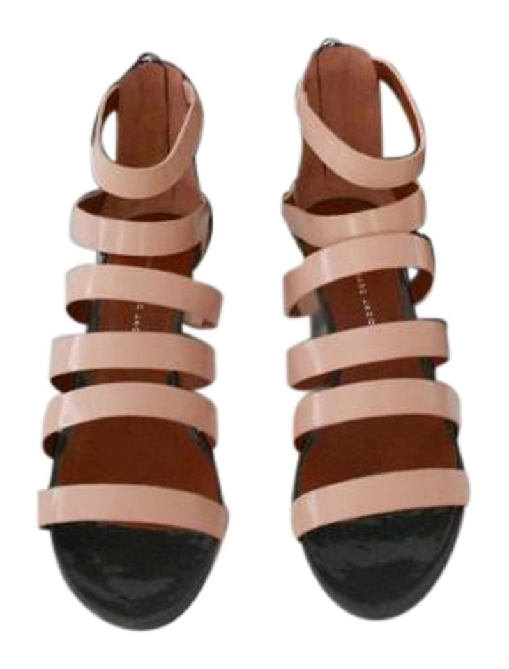 672c2708467e Marc by Marc Jacobs Pink Strappy Leather Wedge Sandals Size EU 39 ...