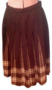 Pendleton Virgin Wool Tartan Black Skirt .