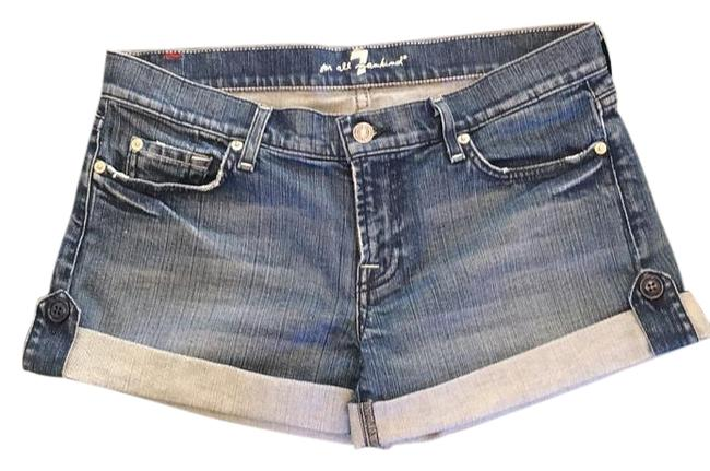 7 For All Mankind Blue Denim Shorts Size 30 (6, M) 7 For All Mankind Blue Denim Shorts Size 30 (6, M) Image 1