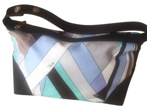Emilio Pucci Satchel in Blue, White, Black, Multi