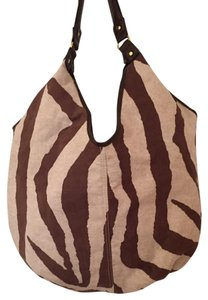 Jessica Simpson Suede Brown Tote in Brown/ Tan