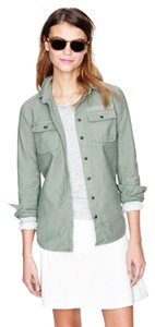 J.Crew Military Shirt Army Green Sage Button Down Shirt Sage Green