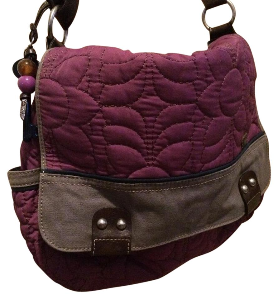 Fossil Key-per Purple Nylon Messenger Bag - Tradesy dec495e45bb9a