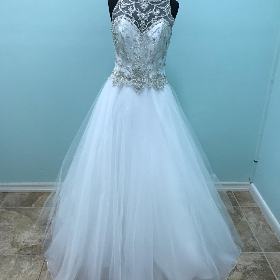 Mori Lee White 2711 Modern Wedding Dress Size 12 (L) - Tradesy