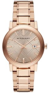 Burberry NWT Rose Gold Ion-Plated Stainless Steel Bracelet Watch 38mm