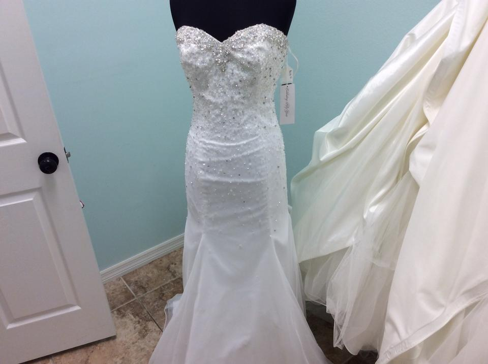 Mori Lee White 6744 Feminine Wedding Dress Size 12 (L) - Tradesy