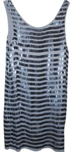French Connection White Sequin Dress