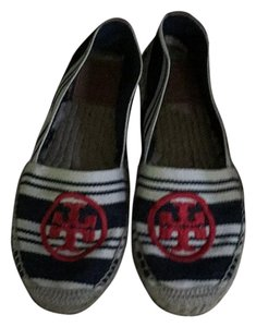 Tory Burch Red white blue Flats