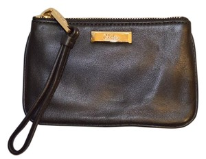 Cole Haan Leather Wristlet Black Clutch
