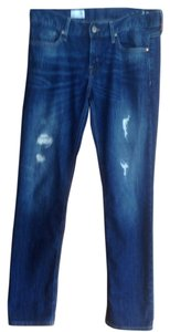 Gap Distressed Wash 1969 Straight Leg Jeans-Distressed