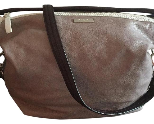 Item - Taupe/Grey/White/Brown Leather Hobo Bag
