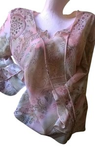 A. Byer A Floral Paisley Top pink multi