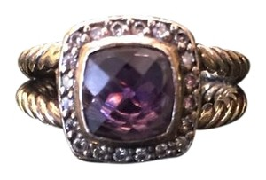 David Yurman David Yurman Petite Albion Ring with Amethyst and Diamonds 5.5