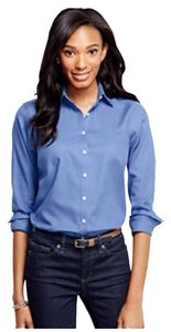 Lands' End Button Down Shirt True Blue
