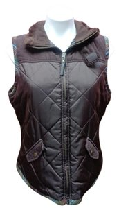 CAbi Quilted Corduroy Wool Vest