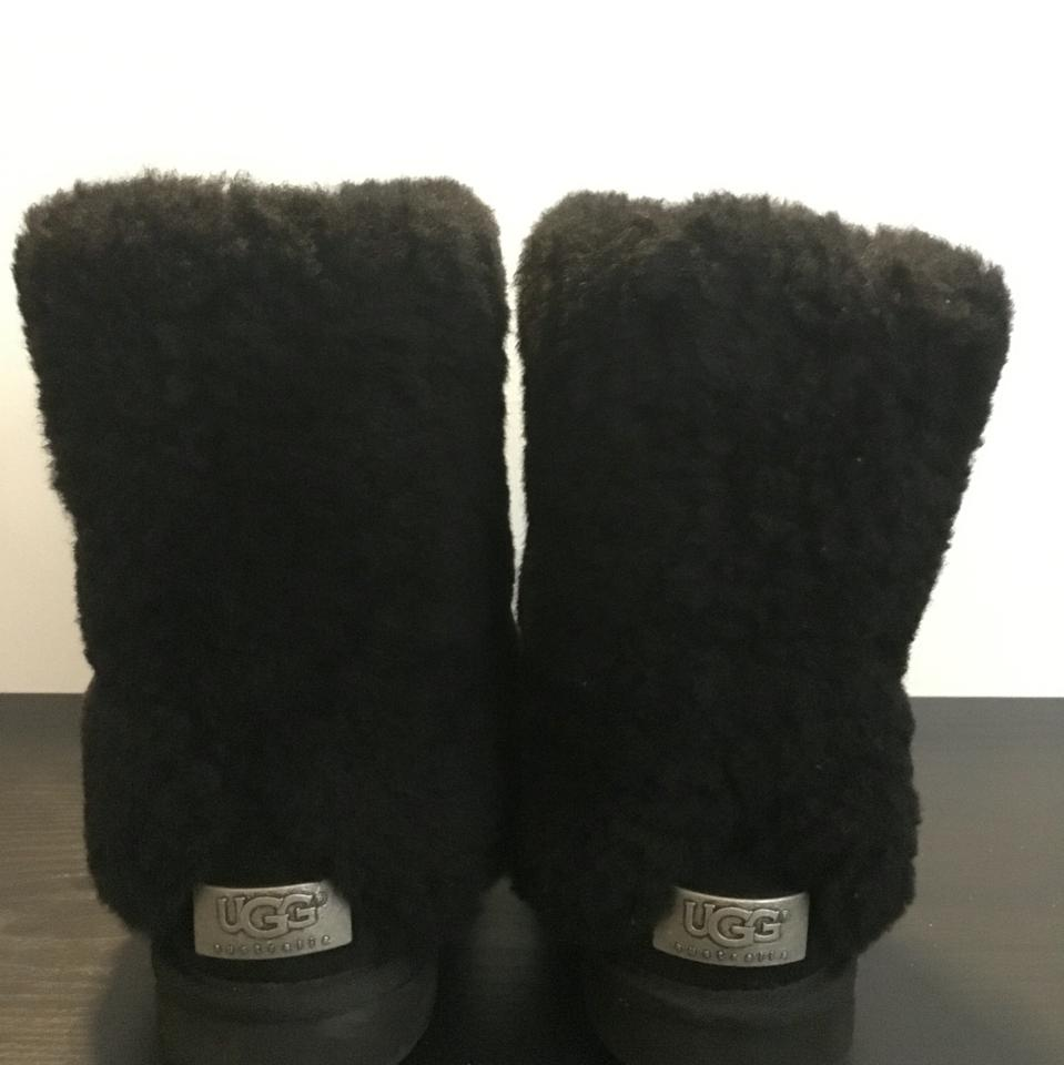 477e3263c41 UGG Australia Black Patten Shearling Cuff Boots/Booties Size US 8 Regular  (M, B) 32% off retail