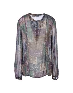 Antik Batik Festival Patchwork Boho Top Purple Multi