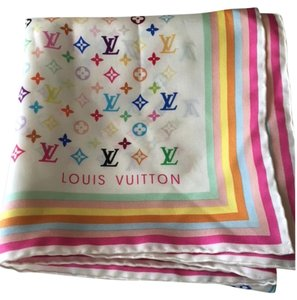 Louis Vuitton Multicolore Louis Vuitton Monogram Silk Scarf