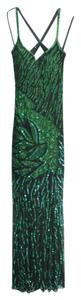 Pageant Emerald Beaded Dress