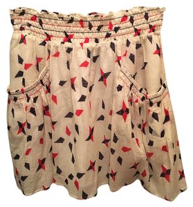 Theory Mini Skirt White, red, blue