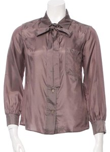 Marni Button Down Shirt Purple
