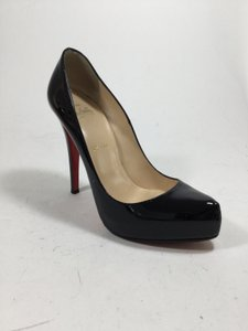 Christian Louboutin Patent Leather Pointed Toe Black Pumps