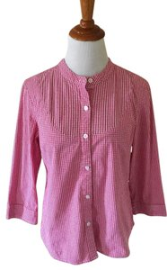 Talbots Button Down Shirt Red