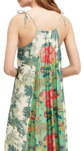 Anthropologie short dress Floral print Green Midi on Tradesy