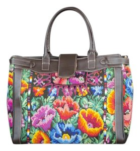 ITZA BAGS Embroidered Vintage Chic Lap Top Size Laptop Bag
