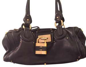 Besson Italian Leather Paddington Lock Handbag Hobo Bag