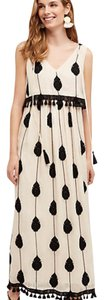 Balck and white Maxi Dress by Anthropologie Maxi Embroidered Long
