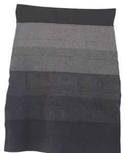 BCBGMAXAZRIA Mini Skirt Grey & Black