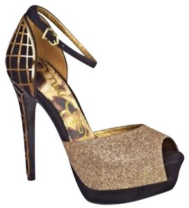 Sam Edelman Black & Gold Platforms
