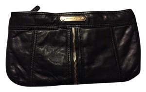 Michael Kors Leather Leather Leather Black Clutch