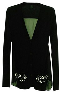 Vera Wang Wool Silk Beaded Cardigan