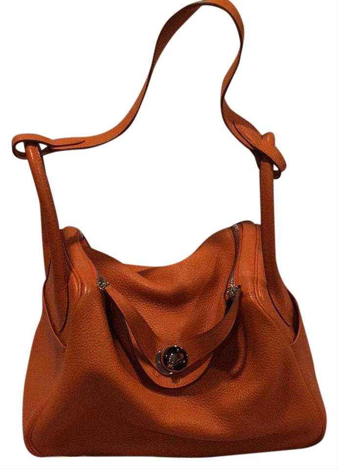 367160daf5ff Hermès Lindy 30 Orange Clemence Leather Hobo Bag - Tradesy