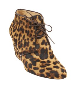 Christian Louboutin Lady Leopard Print Pony Hair Ankle Multi-Color Boots
