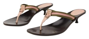 Gucci 12534 Pink, Green Sandals